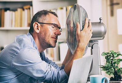 Moderne Häuser überhitzen im Sommer schnell.